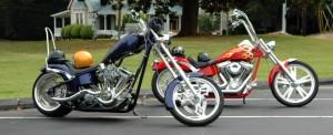 moto custom chopper